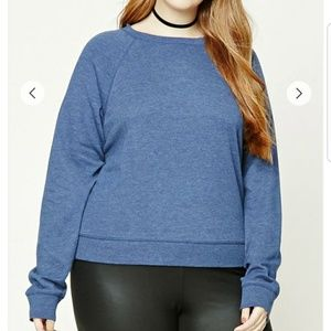 🛍Blue raglan sweatshirt